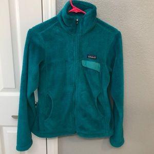Ladies Patagonia Fleece Zip Up Size SM TEAL